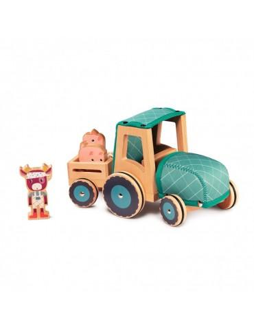 Tracteur en bois et néoprène - lilliputiens