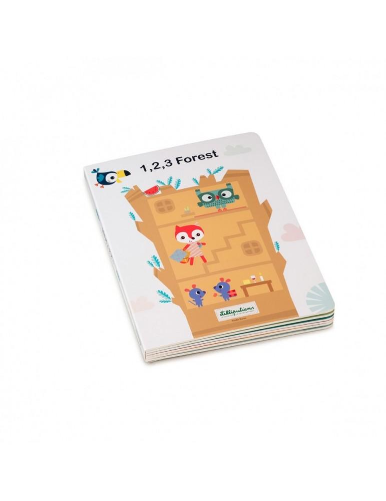 Livre puzzle 1,2,3 Forêt - Lilliputiens