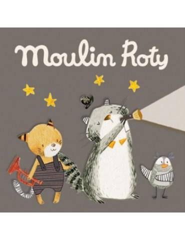 3 disques Les Moustaches pour la lampe à histoires - Moulin Roty