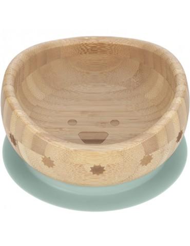 Bol ventouse en bois de bambou Little Chums chien - Lässig
