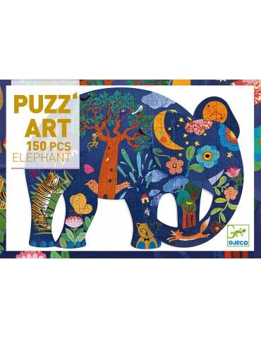 puzz'art éléphant 150 pièces - djeco