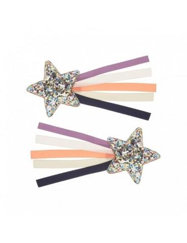 2 barrettes étoiles filantes - mimi et lula