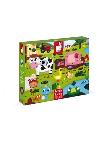 Puzzle tactile géant de la ferme  20 pcs - janod