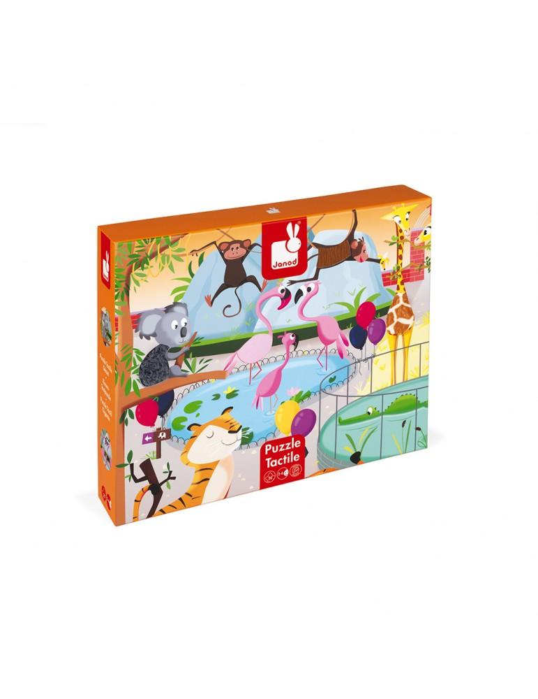 Puzzle tactile géant au zoo Janod - boîte