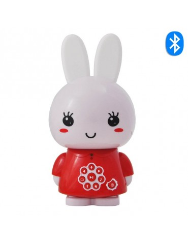 Veilleuse musicale lapin rouge - alilo