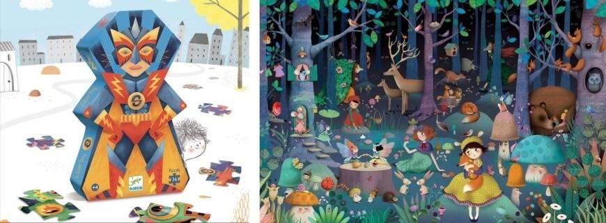 En 1000 Morceaux,  Puzzles 4-5 ans    Le Carrousel d'Emilie